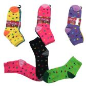 96 of Ladies Teens Quarter Socks Confetti