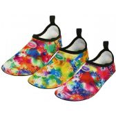 "36 of Women's ""Wave"" Super Soft Elastic Nylon Upper Fantasy Printed Yoga Sock Water Shoes ( Asst. Fuchsia, Green & Purple )"