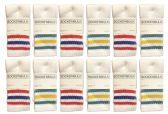60 of Yacht & Smith Kids Cotton Tube Socks Size 6-8 White With Stripes BULK PACK