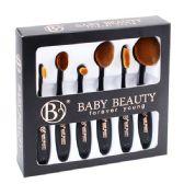 48 of 6 Piece Black Cosmetic Brush Set