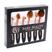 48 of 6 Piece Black Rose Gold Cosmetic Brush Set