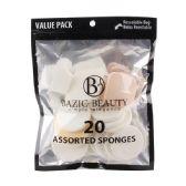 36 of 20 Piece Assorted Make-up Blender Sponge