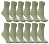 60 of Yacht & Smith Womens Fuzzy Snuggle Socks Mint, Size 9-11 Comfort Socks BULK PACK