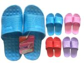 48 of Ladies Assorted Color Shower Slipper
