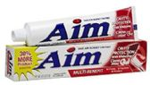 240 of Aim Cinna Mint Cavity Toothpaste Shipped by Pallet
