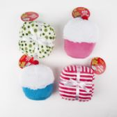 60 of Dog Toy Plush W/squeaker Cupcake & Present