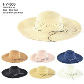 30 of Womens Paper Sun Hat Assorted Color
