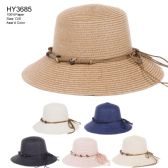 30 of Womens Paper Bucket Hat With Rope Tie