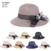 30 of Womens Paper Bucket Hat With Ribbon Bow And Flower