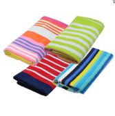 "12 of BEACH TOWEL PRINTED DESIGN 28 X 60"" ASTD COLORS STRIPES"