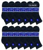 12 of Yacht & Smith Men's Loose Fit Non-Binding Soft Cotton Diabetic Quarter Ankle Socks,Size 10-13 Black
