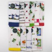 72 of Kitchen Towel 20x30 Ring Spun Cotton Assorted Prints