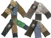 60 of Mens Assorted Pattern Dress Socks Size 10-13