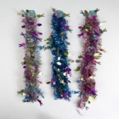 48 of Garland Easter Tinsel 9ft 3ast Color/1 Style Easter Hdr W/holographic Icons