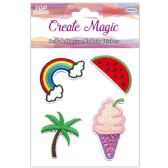 96 of Fabric Stickers Assorted