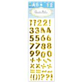 144 of Shiny Stickers Numbers Gold