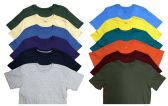 12 of SOCKS'NBULK Mens Cotton Crew Neck Short Sleeve T-Shirts Mix Colors Bulk Pack Value Deal (12 Pack Mix, Large)