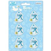 96 of Wooden Decoration Baby Blue Bottle