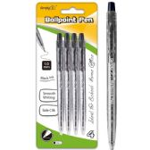 96 of Four Count Click Ballpoint Pen Black