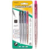 96 of Four Count Click Ballpoint Pen Assorted