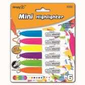 96 of Six Count Mini Highlighters Markers With Clips