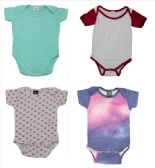 24 of Infant Assorted Design & Color Onesie, Size XL
