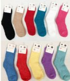 360 of Women Solid Color Fuzzy Socks Size 9-11