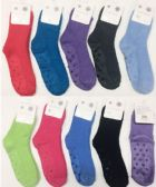 120 of Women Solid Color Fuzzy Socks With Gripper Bottom Size 9-11