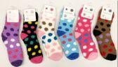 120 of Women Polka Dot Pattern Fuzzy Socks Size 9-11