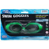 "48 of 6"" SWIMMING GOGGLES ON BLISTER CARD, 3 ASSORTED COLORS"