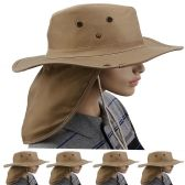 24 of Quick Dry Camping Neck Flap Brown Boonie Hat