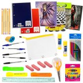 12 of 53 Piece Wholesale Kids School Supplies Kit