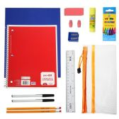 24 of 20 Piece Wholesale Kids School Supplies Kit