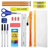 48 of 12 Piece Wholesale Kids School Supplies Kit