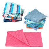 72 of Closeout Hand Towels in Assorted Colors and Patterns