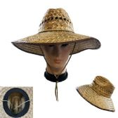 20 of Straw Sun Hat [Open Weave] Brown Trim