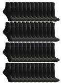 48 of Yacht & Smith Mens & Womens Ankle Wholesale Bulk Pack Athletic Sports Socks, by SOCKS'NBULK (Womens 9-11 (Shoe size 5-10), 48 Pairs Black)