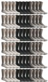 120 of Yacht & Smith Mens & Womens Wholesale Bulk Sports Crew, Athletic Case Pack Socks, by SOCKS'NBULK (120 Pairs Assorted, Womens 9-11 (Shoe size 5-10))