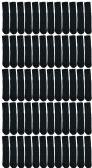 72 of Yacht & Smith 28 Inch Men's Long Tube Socks, Black Cotton Tube Socks Size 10-13