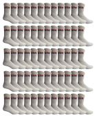 72 of Yacht & Smith Men's USA White Crew Socks Size 10-13
