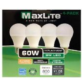 24 of Maxlite 4 Pack LED Bulb 9 Watt