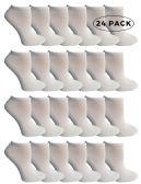 24 of SOCKS'NBULK Kids No Show Socks, Soft Sports Socks In Bulk Packs, (Size 4-6) (White, 24)