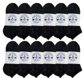 12 of Yacht & Smith Kids No Show Ankle Socks Size 6-8 Black