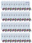 48 of Yacht & Smith Women's Premium Cotton Sport Ankle Socks Size 9-11 With Stripes