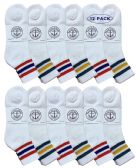 12 of Yacht & Smith Women's Premium Cotton Sport Ankle Socks Size 9-11 With Stripes