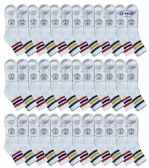 36 of Yacht & Smith Men's King Size Premium Cotton Sport Ankle Socks Size 13-16 With Stripes