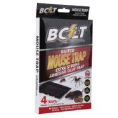 72 of Four Pack Bolt Baited Mouse Glue Trap
