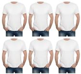 24 of Yacht & Smith Mens First Quality Cotton Short Sleeve T Shirts SOLID WHITE Size M