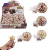 36 of Mesh Squish Ball with Water Beads Rainbow