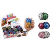36 of Mesh Squish Ball Two Tone Glitter